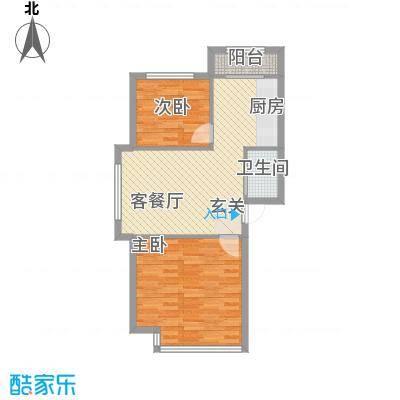 宏华大厦34户型2室2厅1卫1厨