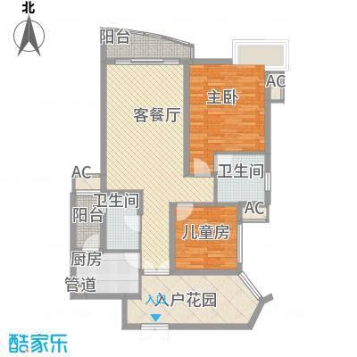 盛世华南101(A户型2室2厅2卫1厨