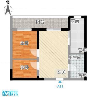上海城市户型2室