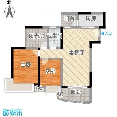 雅居乐御景名门御景名门789栋0102单位户型3室2厅1卫1厨