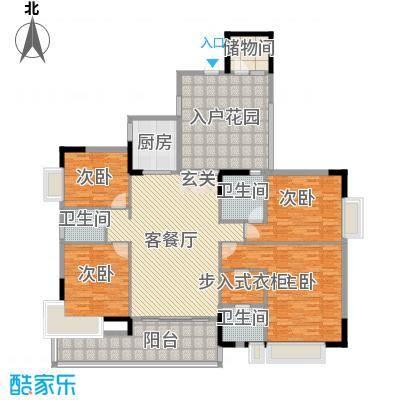 联华半山湖天伦世家标准层B3户型4室2厅3卫1厨