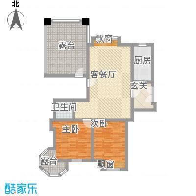 巨龙江山国际2期洋房8-11号楼标准层D-11户型