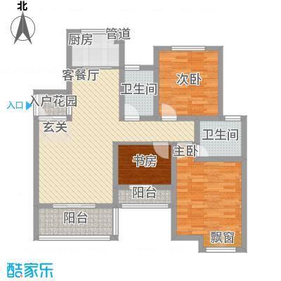 巨龙江山国际2期洋房12、13号楼标准层A-16户型