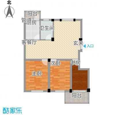 繁裕新村5.00㎡户型3室1厅1卫1厨