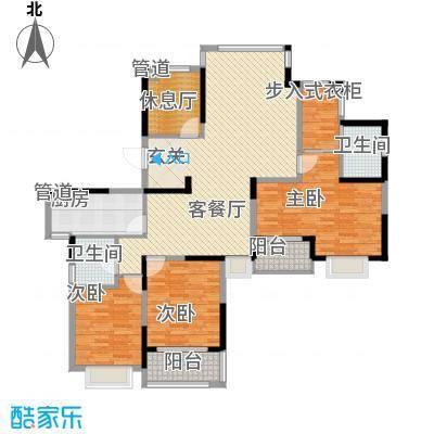 银亿海尚广场166.00㎡A1+A2户型5室2厅2卫1厨