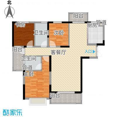 银亿海尚广场128.00㎡B3户型3室2厅2卫1厨