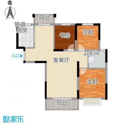 银亿海尚广场115.00㎡B2户型3室2厅1卫1厨