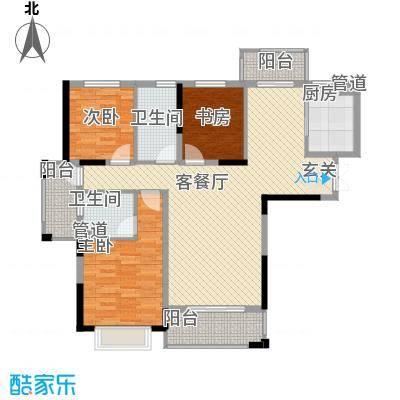 银亿海尚广场131.00㎡C2户型3室2厅2卫1厨