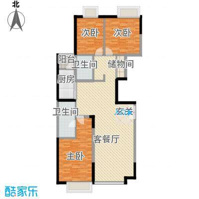 华业大厦户型3室