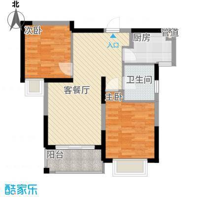 银亿海尚广场78.00㎡A1户型2室2厅1卫