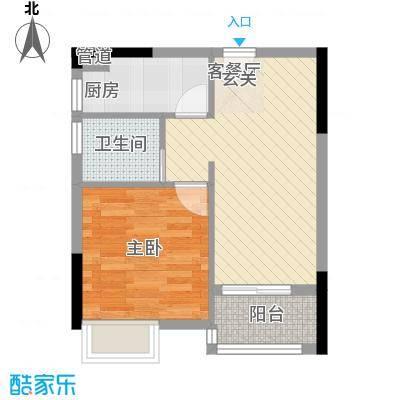 金沙美地43.81㎡7栋公寓单位户型1室1厅1卫