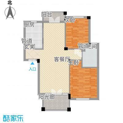 绿城桂花园16.00㎡户型2室2厅1卫1厨