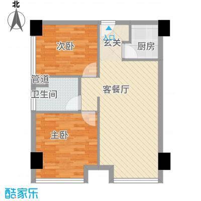 海景华庭户型2室1厅1卫1厨