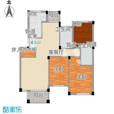 绿城桂花园14.00㎡户型3室2厅1卫1厨
