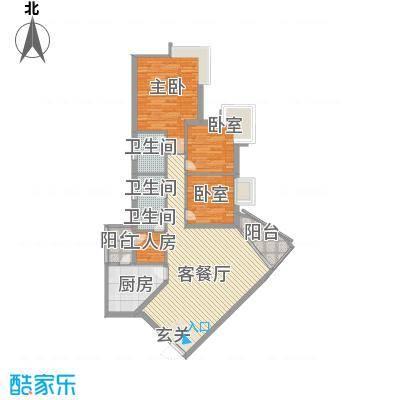 雍华庭四期户型3室