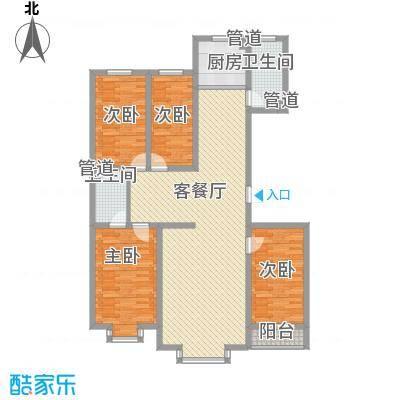 港龙新城152.00㎡户型4室