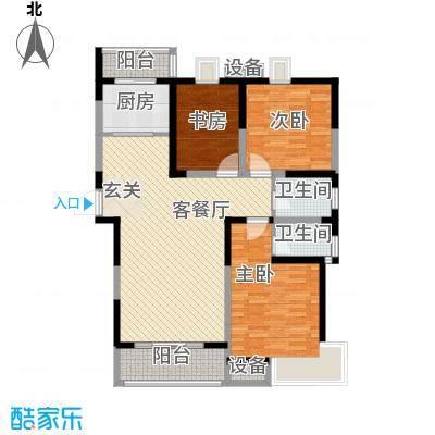 凤凰和熙苑136.00㎡户型3室