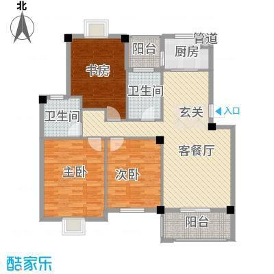 盛世嘉苑114.00㎡J型户型3室2厅2卫