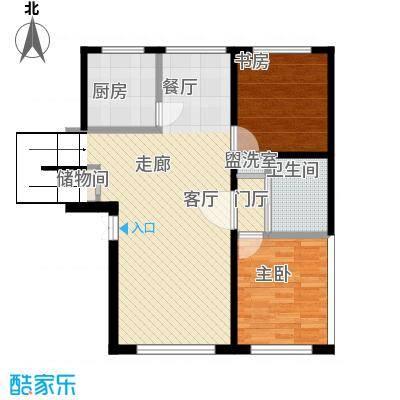 香格里拉花园91.00㎡E3户型2室2厅1卫LL-副本