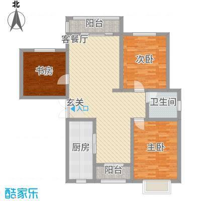 武汉大厦6户型3室2厅2卫1厨