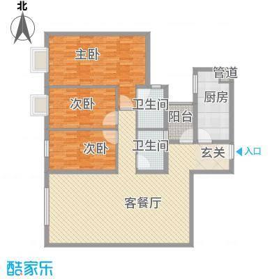 鹭江海景花园二期户型3室
