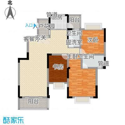 城西二里3-2-2-1-3户型3室2厅2卫1厨