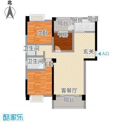 柠溪大厦11.00㎡户型3室