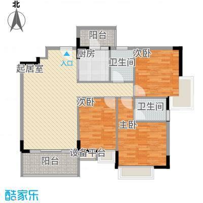 中堂东港城128.00㎡户型3室