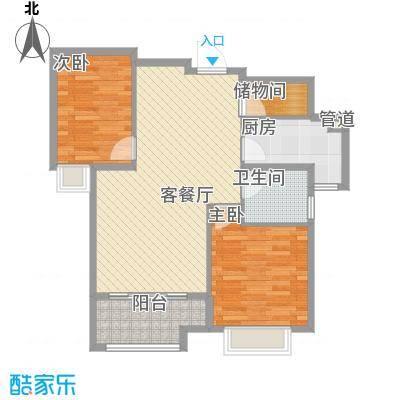 宁宝世家86.32㎡04/05#02、03、06、07单元户型2室2厅1卫1厨