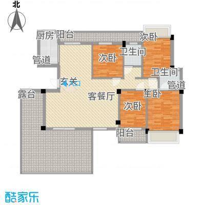 城市空间164.78㎡G8户型5室2厅2卫1厨