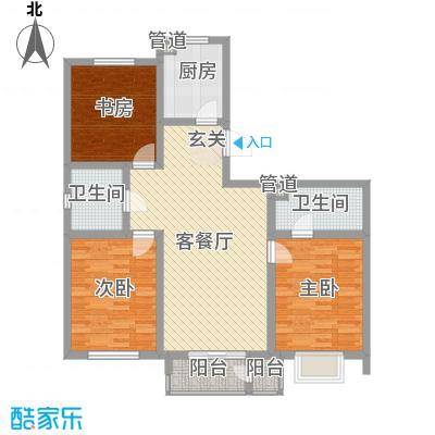 富贵园5户型3室2厅2卫1厨
