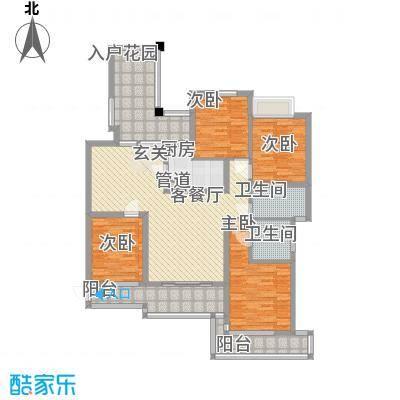 滨湖世纪城福徽苑1219315256670_000户型4室2厅2卫1厨