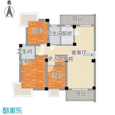 如意金水湾116.28㎡户型3室2厅2卫