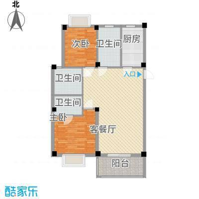 如意金水湾111.58㎡户型3室2厅2卫