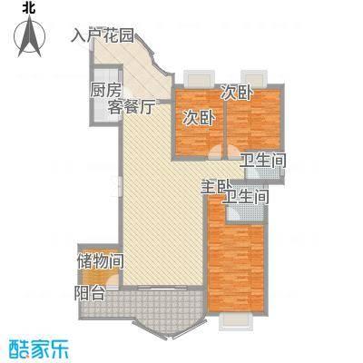 亿力百家苑三区b4-27层D2单元户型3室2厅1卫1厨