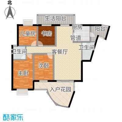 亿力百家苑二区3-29层B1单元户型3室2厅2卫1厨