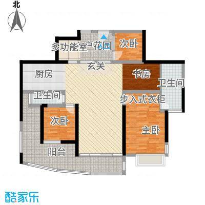 圣莫丽斯166.50㎡8栋P5型奇数层户型4室2厅2卫1厨