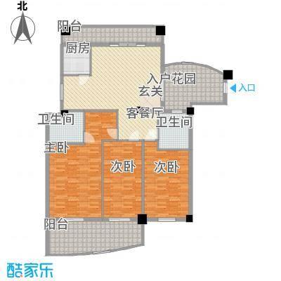 森海丽景15.10㎡2号楼04单元户型3室2厅2卫1厨