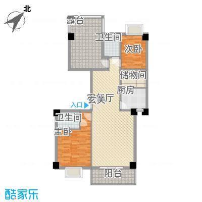 金尚风景(福满园)112.32㎡金尚风景3#2-10层G-E户型2室2厅2卫1厨