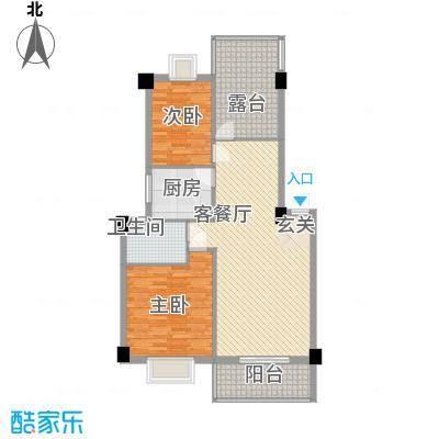 金尚风景(福满园)4.60㎡金尚风景2#3-6层D-A1户型2室2厅1卫1厨