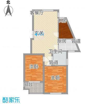吕岭花园30户型3室2厅1卫1厨