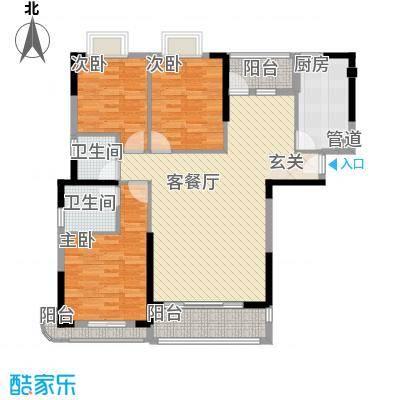 建东大厦户型3室2厅2卫1厨