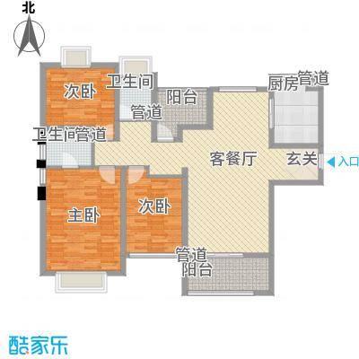 台湾山庄福德堡21户型3室2厅2卫1厨