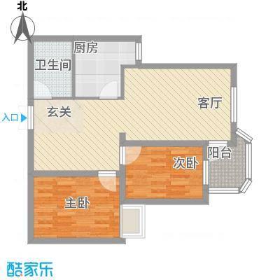 亚桥花园18户型2室2厅1卫1厨