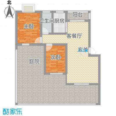 星海湾77.00㎡户型2室