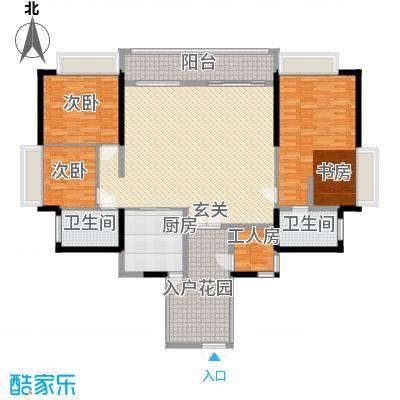 翠云花园77.00㎡户型2室