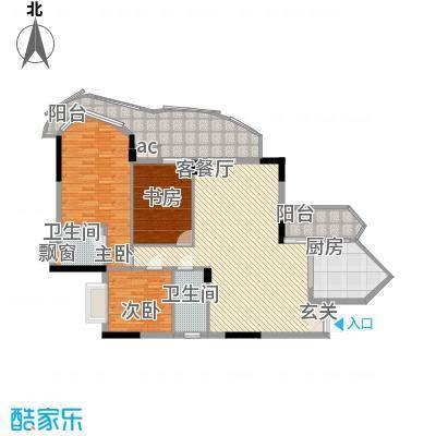 名门豪苑11.00㎡B型户型3室2厅1厨