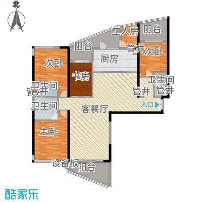 格力广场3期将军山221.00㎡22栋0441-52F户型5室2厅3卫1厨