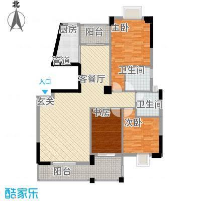 未来海岸系天籁132.00㎡C1户型3室2厅2卫