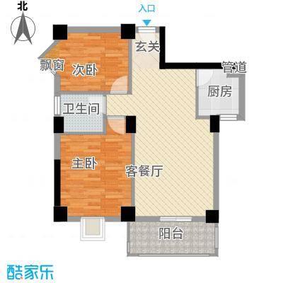 未来海岸系天籁86.00㎡D户型2室2厅1卫